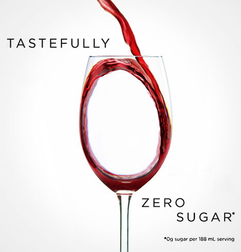 Tastefully Zero Sugar*. *0g sugar per 188 mL serving.